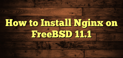 How to Install Nginx on FreeBSD 11.1